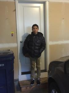 Hampus efter första dagen i skolan